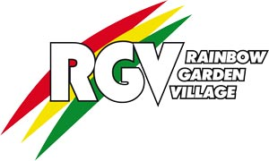 rainbow garden village logo